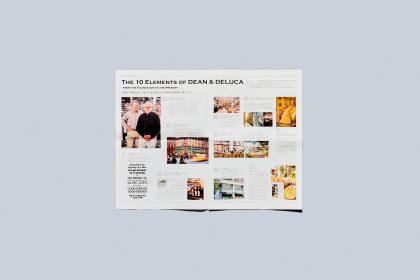 冊子「DEAN & DELUCA40周年 リーフレット」